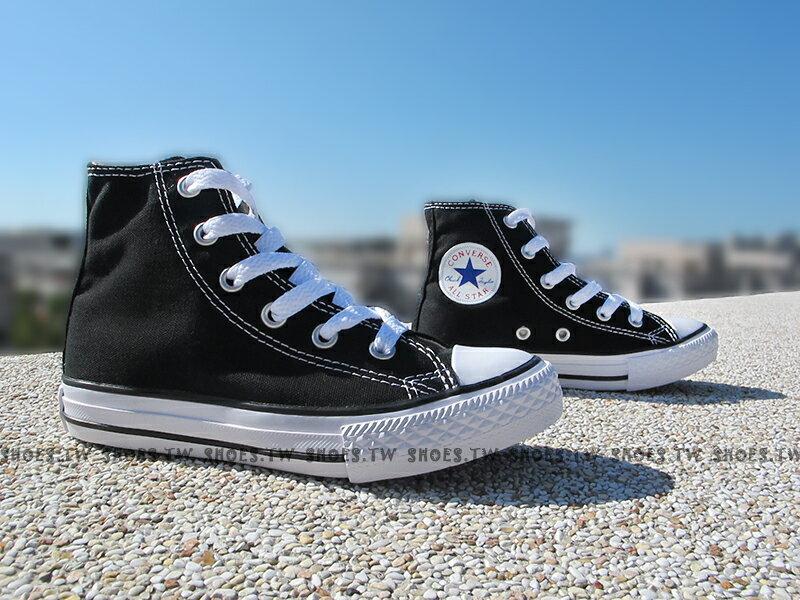 Shoestw【3J231C】CONVERSE 童鞋 帆布鞋 高筒 黑色 中童鞋 ALL STAR