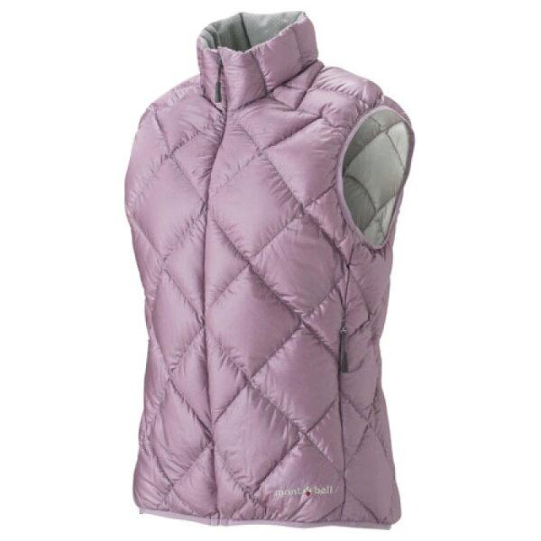 露營趣:【露營趣】中和Mont-Bell1101364LightAlpine輕量羽絨背心女款芋紫色