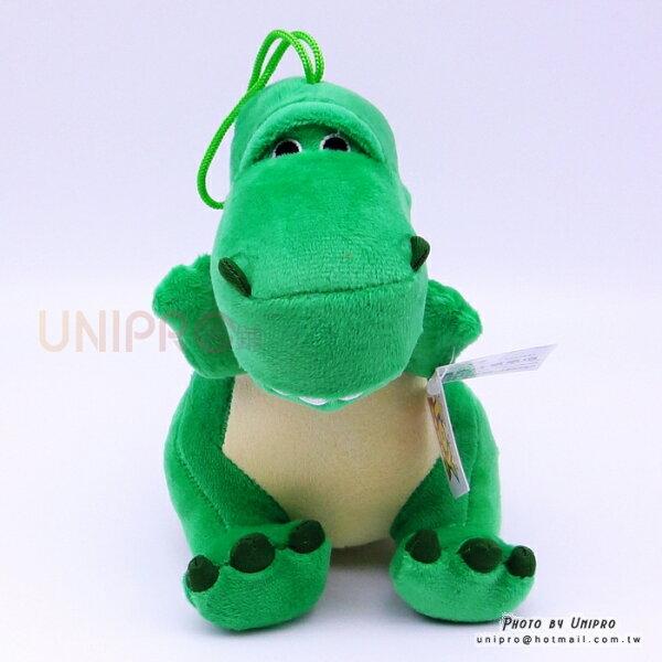 【UNIPRO】迪士尼正版暴暴龍抱抱龍恐龍RexQ版20公分絨毛玩偶娃娃禮物玩具總動員