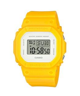 CASIOBABY-GBGD-560CU-9復古清爽簡潔數位流行腕錶黃