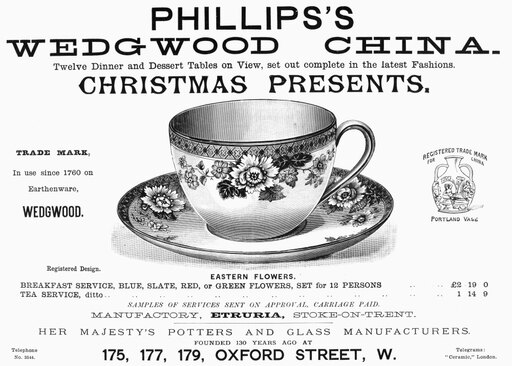 Tea Cup 1890 Nenglish Newspaper Advertisement For PhillipS Wedgwood China 1890 Poster Print by (18 x 24) 7378d2ce54378096a1161483f003a538
