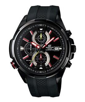 CASIO EDIFICE EFR-536PB-1A3 LED霓虹賽車腕錶/黑面48mm