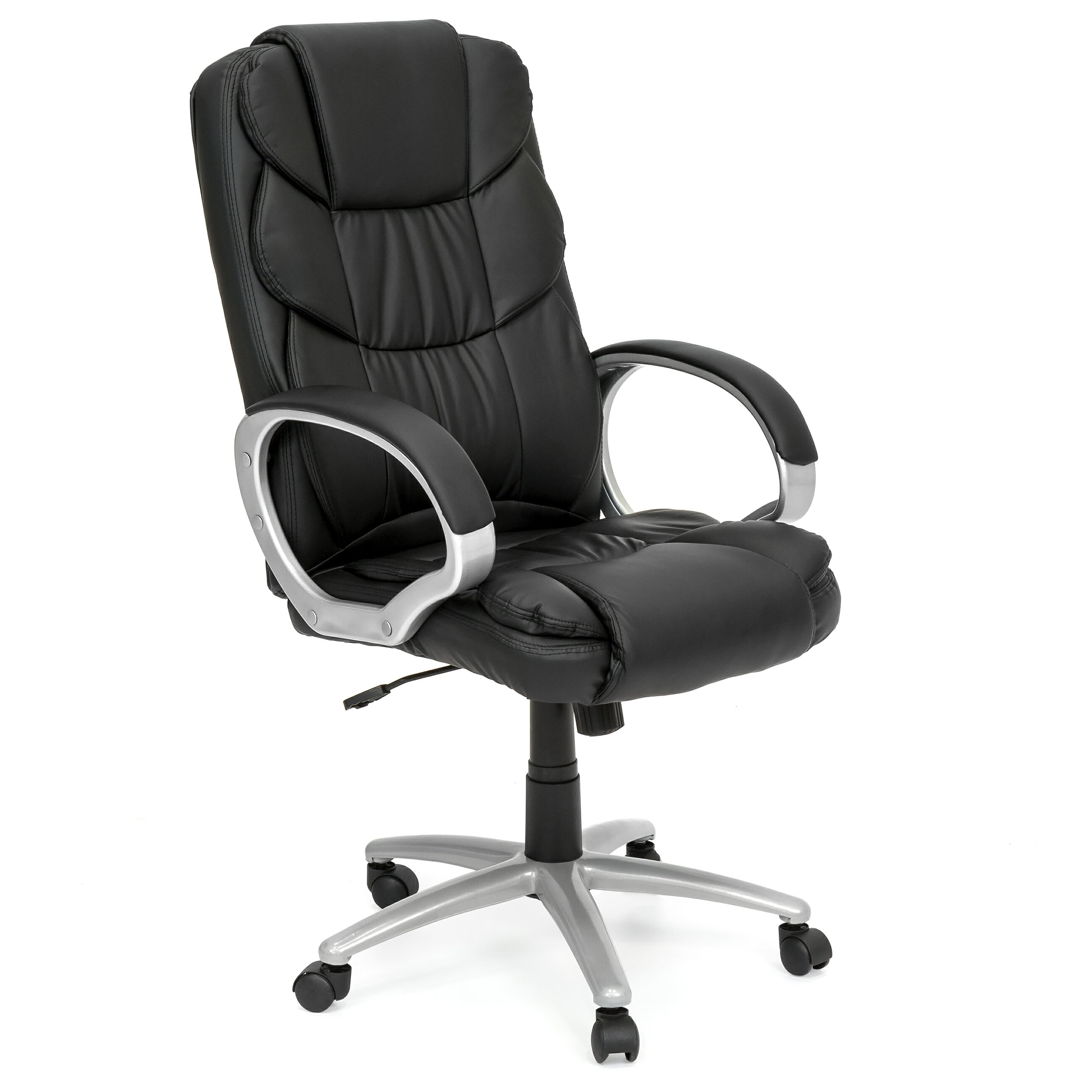 Best Choice Products Ergonomic PU Leather High Back Office Chair, Black 0