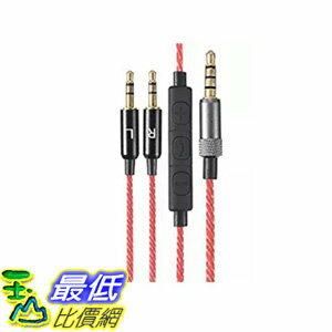 [106 美國直購] M.Way 1.2M 耳機線-紅 Audio Cable For Sol Republic Master Tracks HD V8 V10 12 X3