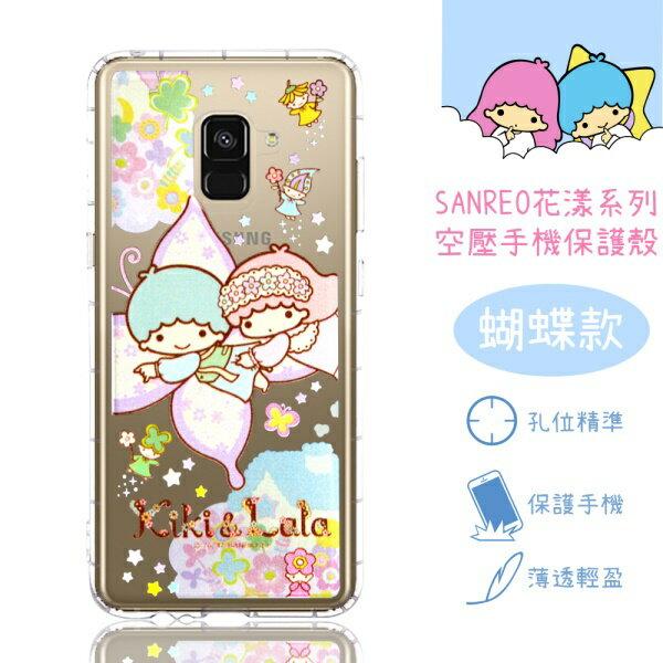 【雙子星】SamsungGalaxyA8+(2018)6吋花漾系列氣墊空壓手機殼(蝴蝶)