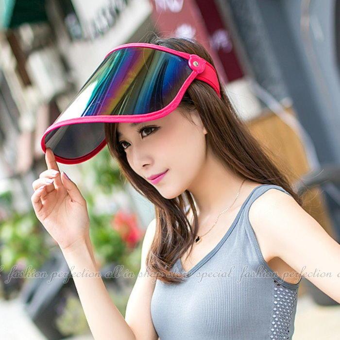 美白大作戰~抗紫外線UV鏡片遮陽帽~【DJ388】◎123便利屋◎