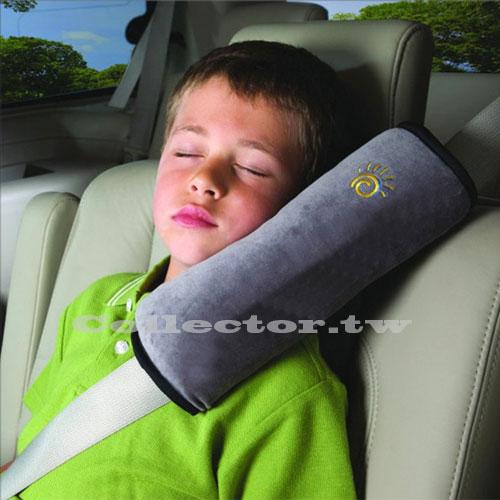 【T17031302】兒童汽車安全帶護肩枕套 車用可愛加長加厚毛絨睡覺枕頭車飾 用品