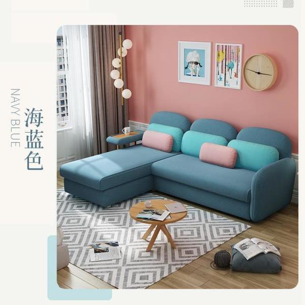沙發床兩用多功能雙人可折疊沙發北歐ins風大小戶型客廳現代沙發