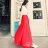 ☆BOBI☆02 / 01必備款百搭多色純色雪紡半身裙長裙【LAC1306-80】 0