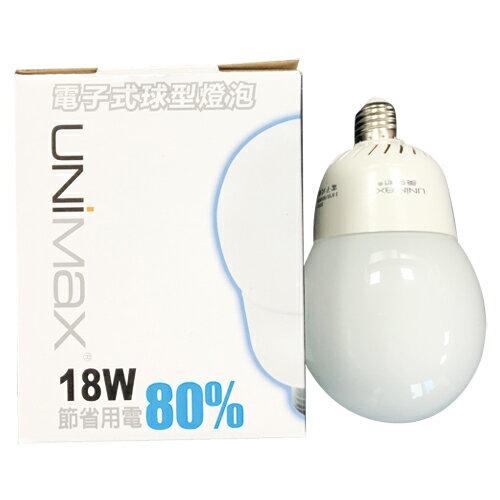 UNIMAX 球型省電燈泡-白光(18W)【愛買】