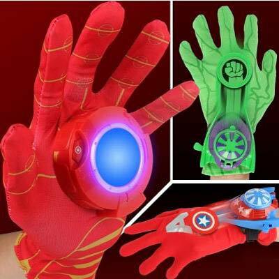 【復仇者聯盟發射手套-多款可選-1款/組】蝙蝠俠鋼鐵俠綠巨人美國隊長盾牌兒童玩具-5670709