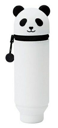 日本SMART FIT PuniLabo 動物矽膠筆袋 (熊貓)  筆筒 2 Way設計