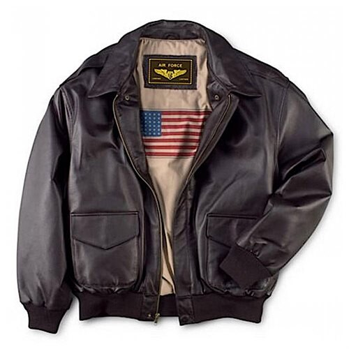 Landing Leathers Men's Air Force A-2 Leather Flight Bomber Jacket 0