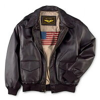 Deals on Landing Mens Air Force A-2 Leather Flight Bomber Jacket