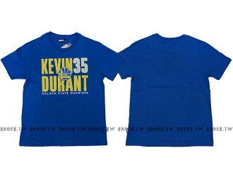 ├超取199免運┤《五折》Shoestw【8730260-123】NBA T恤 棉 金州 勇士隊 KEVIN DURANT 35 名字 藍色【12/7單筆滿499結帳輸入序號 12SS100-4 再折..
