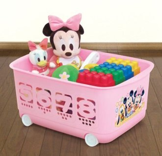 【真愛日本】13011000059 滾輪收納籃-數字粉 三麗鷗 Hello Kitty 凱蒂貓 置物籃 雜誌籃 正品