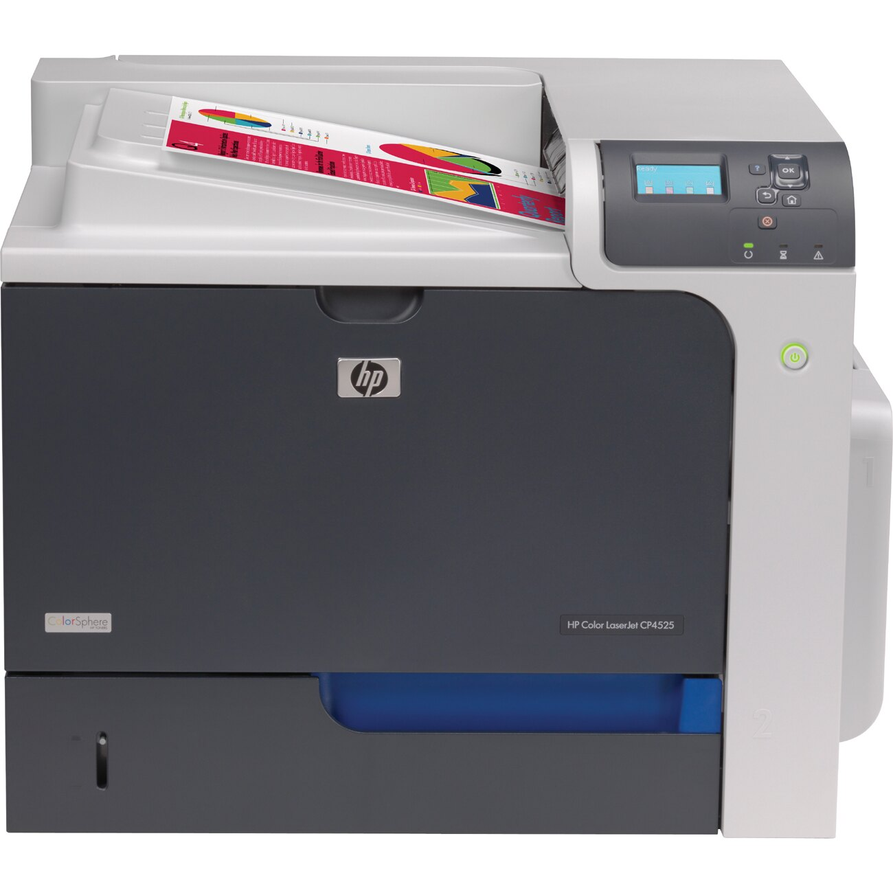 HP LaserJet CP4000 CP4525N Laser Printer - Color - Plain Paper Print - Desktop - 42ppm Mono/42ppm Color Print - 1200 x 1200dpi Print - 600 sheets Input - Gigabit Ethernet - USB 0