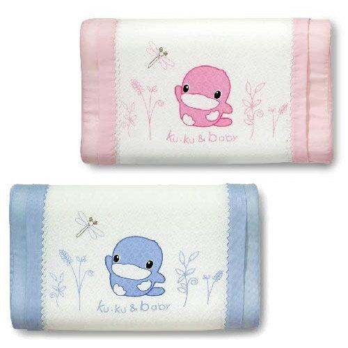 【奇買親子購物網】酷咕鴨KU.KU.涼感幼兒枕(藍色粉色)