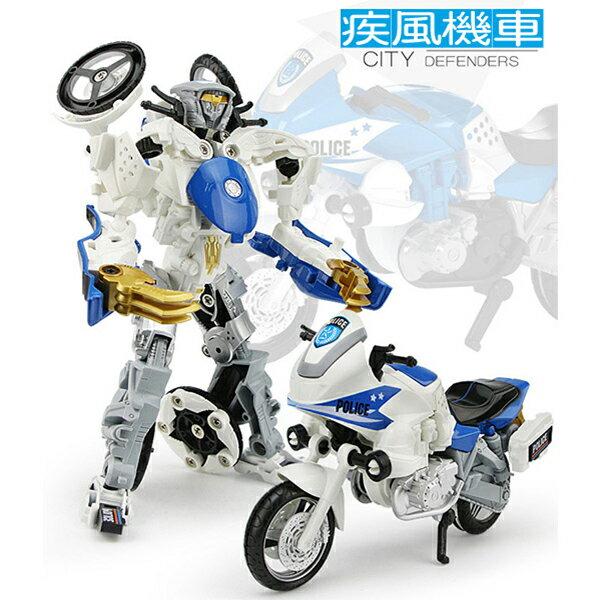 【METAL TRANSFORMERS】變形城市戰警-疾風機車 KY80307-2