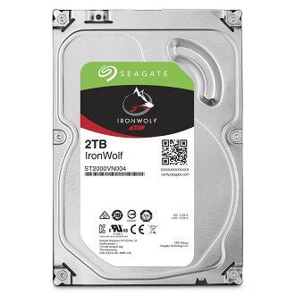 【最高可折$2600】Seagate【IronWolf】那嘶狼 2TB 3.5吋NAS硬碟 (ST2000VN004)