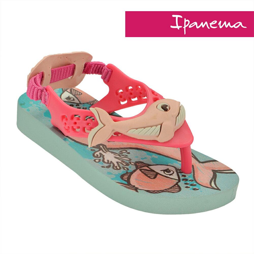 IPANEMA 寶寶 巴西原裝 立體動物造型涼拖鞋 柔軟 不打滑 IP2604722471(粉藍X鯨魚)[陽光樂活]