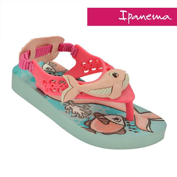 陽光運動館:IPANEMA寶寶巴西原裝立體動物造型涼拖鞋柔軟不打滑IP2604722471(粉藍X鯨魚)[陽光樂活]
