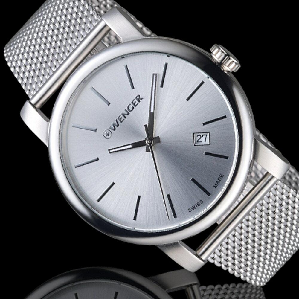 瑞士WENGER Urban 都會系列 經典米蘭帶紳士腕錶 01.1041.121