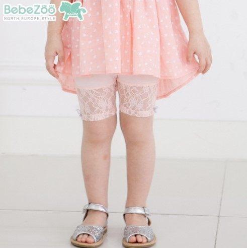 EMMA商城~夏季韓國童裝白色粉色純棉柔軟蕾絲花邊內搭褲.打底褲