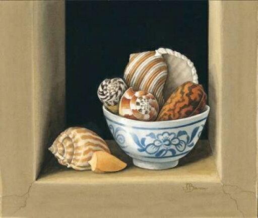 Shells in Bowls II Rolled Canvas Art - Jenny Baron (10 x 12) d1a163e93abcc0c704a69a1a05720ebb