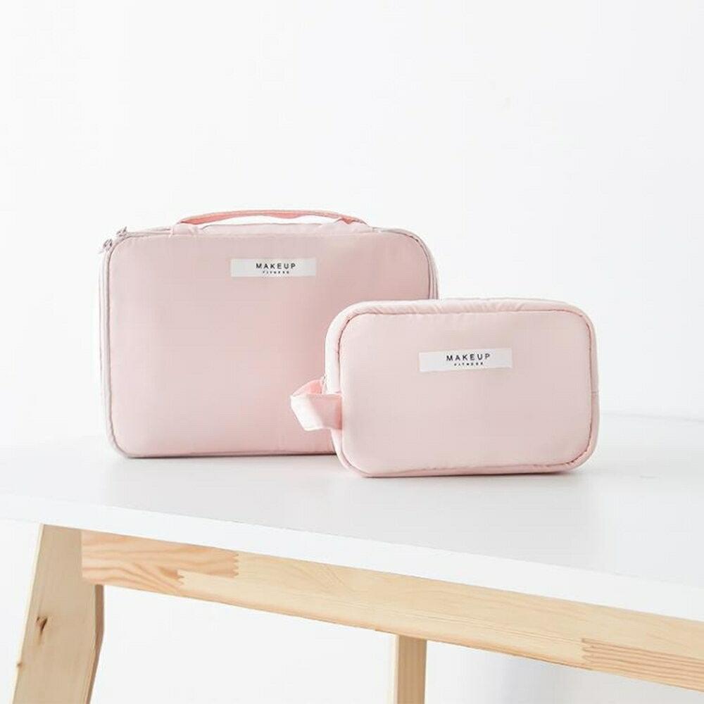化妝品收納包 ins網紅化妝包小號便攜韓國簡約大容量多功能少女袋品隨身收納包 歐歐流行館