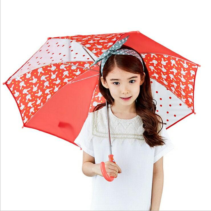 Lemonkid◆正韓可愛滿版卡通動物圖案點點果色造型兒童雨傘-紅色(紅x紅)