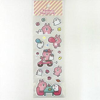【真愛日本】17110600024 可愛小貼紙-機車斜紋粉 卡娜赫拉的小動物 兔兔 P助 文具 紙製品 裝飾貼紙 居家生活