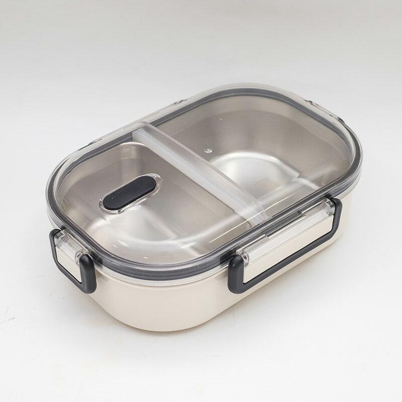 【katie】304不鏽鋼分格隔熱便當盒720ml-白
