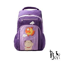 【ABS貝斯貓】貓咪後背包 ABS貝斯貓可愛貓咪拼布 雙肩後背包 (紫色88-199)【威奇包仔通】