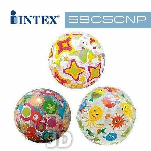 ~INTEX~24吋圖案沙灘球 ^(圖案 出貨^) 590506