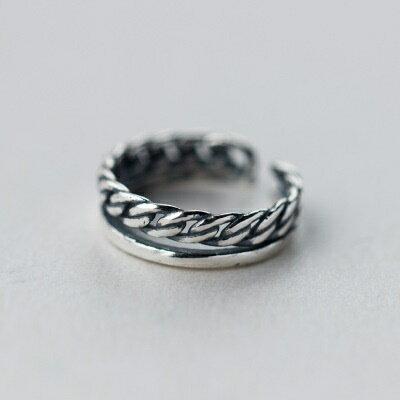 925純銀戒指開口戒~民族風格細緻品味七夕情人節 女飾品73dt305~ ~~米蘭 ~ ~
