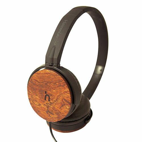 Hoomia U3Wood 紅花梨原木經典耳罩式耳機 (黑色)