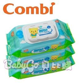 *babygo*康貝Combi Kuma Kun熊超純水嬰兒柔濕巾【80抽*3包】81250