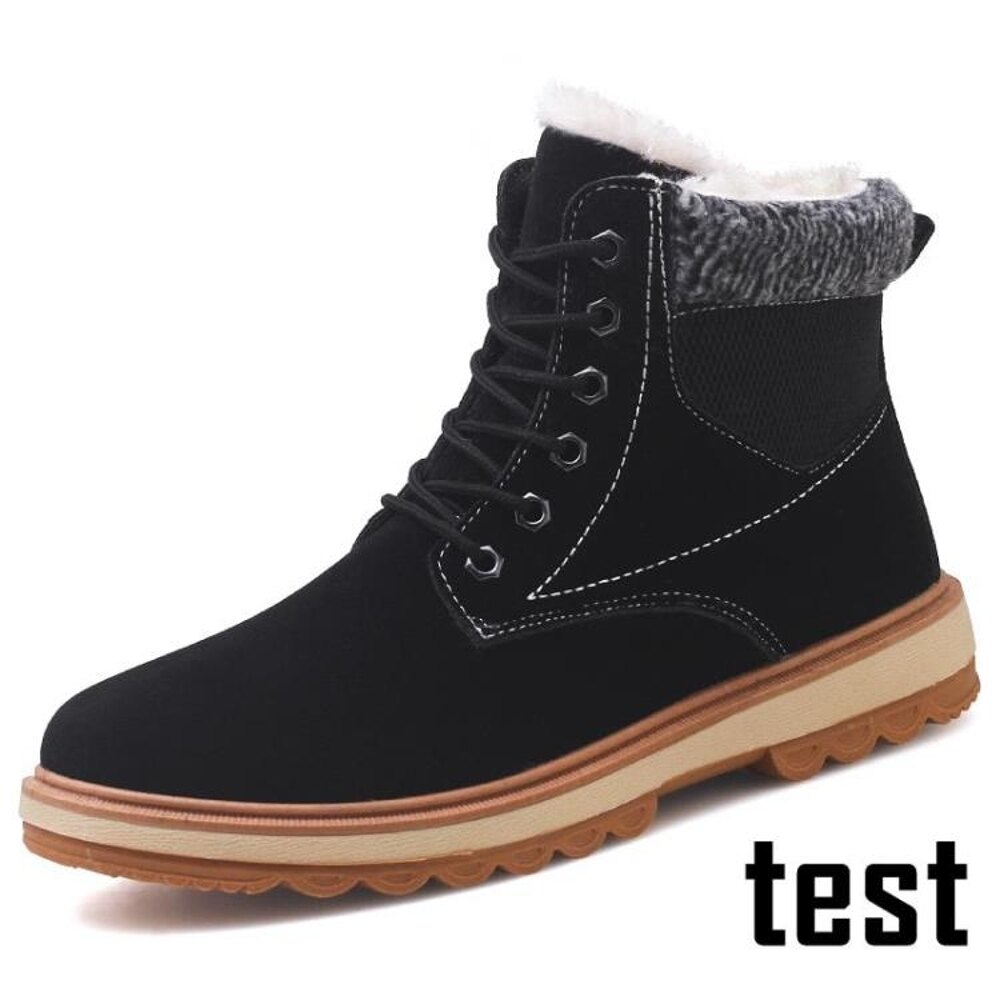 靴子 馬丁靴男士高筒棉鞋保暖潮雪地靴男短靴中筒工裝靴子男鞋冬季加絨 歐歐流行館