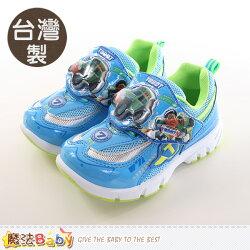 男童鞋 台灣製機器戰士正版閃燈運動鞋 魔法Baby~sa76326