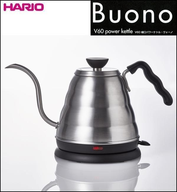 【沐湛咖啡】HARIO V60雲朵不鏽鋼電熱細口壺/手沖壺/快煮壺 EVKB-80TW-HSV(公司貨有保固)