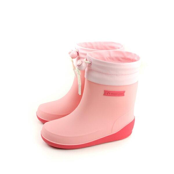 Moonstar 雨鞋 雨靴 防水 粉色 中童 童鞋 MSRBB024 no132