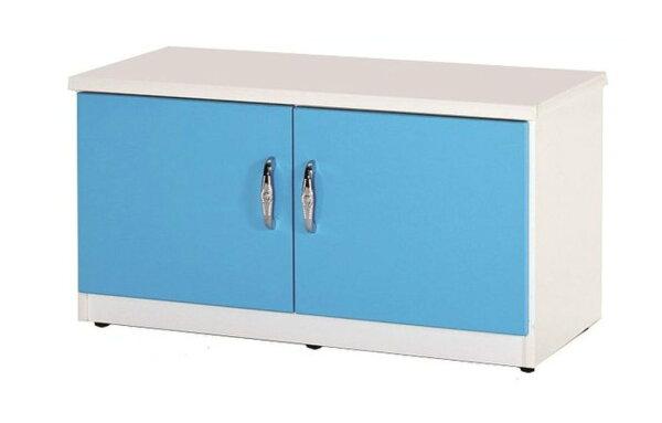 【石川家居】852-01(藍白色)座鞋櫃(CT-306)#訂製預購款式#環保塑鋼P無毒防霉易清潔