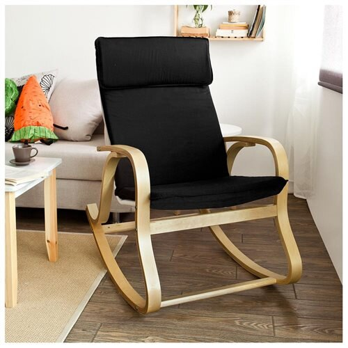 Haotian Comfortable Relax Rocking Chair, Gliders,Lounge Chair With Cotton  Fabric Cushion, FST15