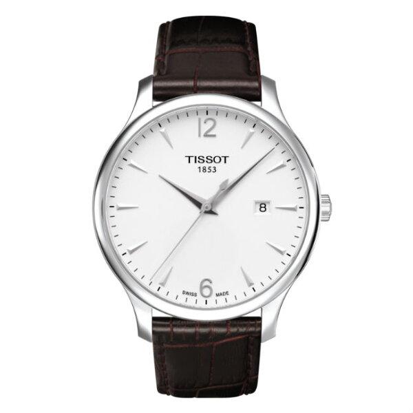 TISSOT天梭表T0636101603700TRADITION簡約現代時尚腕錶白面42mm
