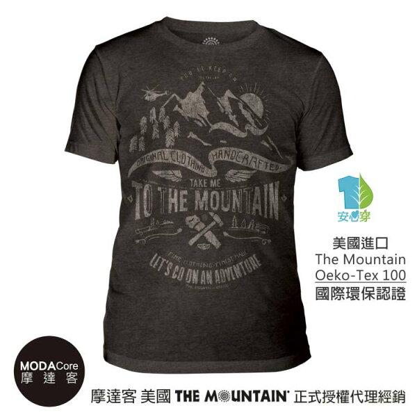 【摩達客】(預購)美國TheMountain都會系列帶我走中性修身短袖T恤