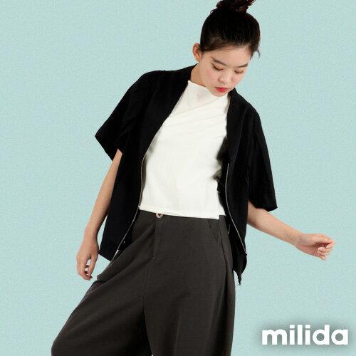 【Milida,全店七折免運】-早春商品-外套款-五分袖短版設計 3