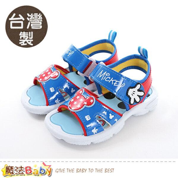 男童鞋台灣製迪士尼米奇正版涼鞋魔法Baby~sk0461