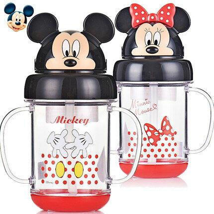 正版Disney迪士尼兒童吸管杯防漏卡通幼兒嬰兒杯子學飲杯寶寶水杯