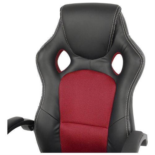 High-Back Executive Racing PU Leather Office Chair - Red 3